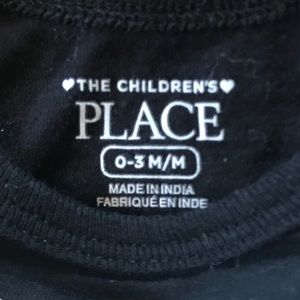 The Children's Place One Pieces - The Children's Place dad and daughter black onesie